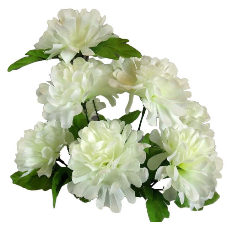 Bukiet 9 białych chryzantem