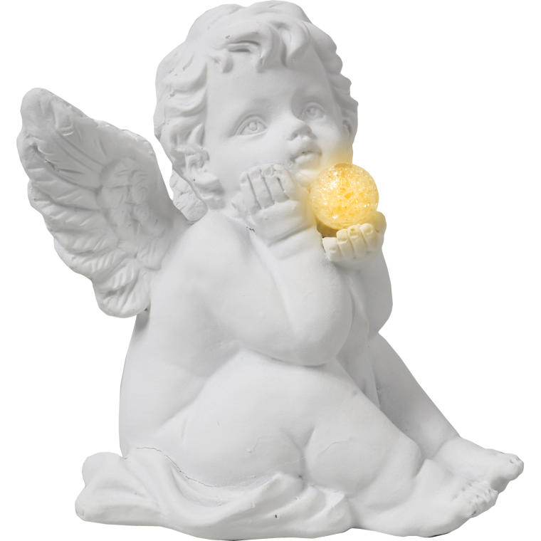 Aniołek siedzący zamyślony 12 cm