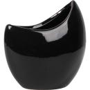 Wazon ceramiczny łódka w kolorze czarnym 10 cm