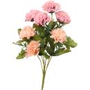 Bukiet 7 goździków w kolorze różowo-łososiowym