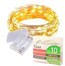 Lampki na drucie 10LED białe ciepłe na baterie