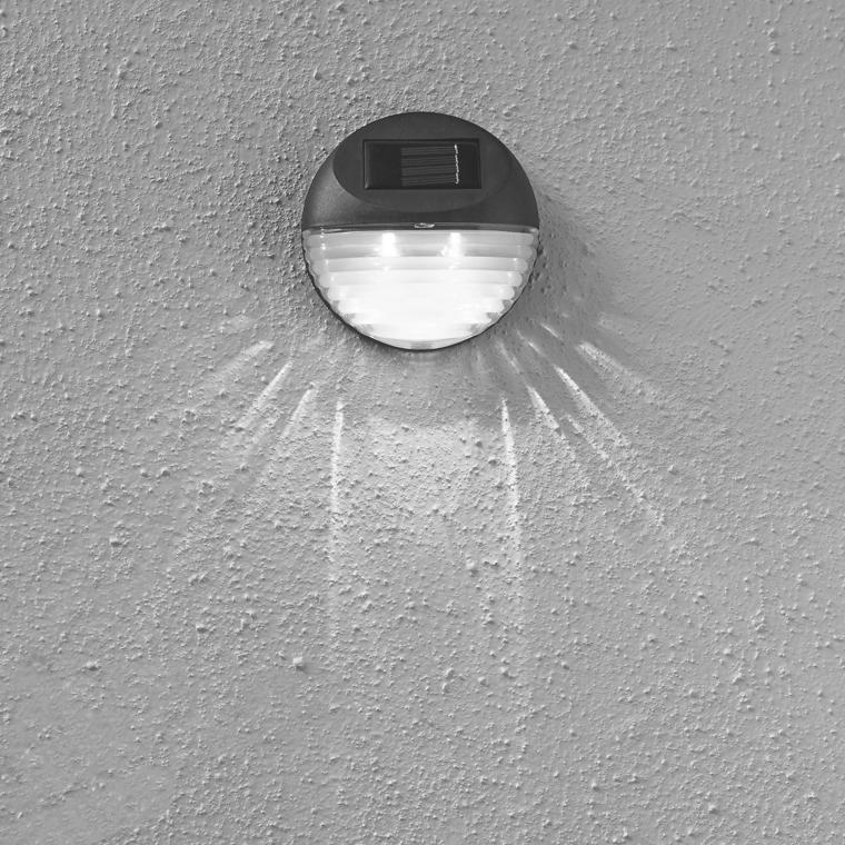 Lampa solarna schodowa czarna