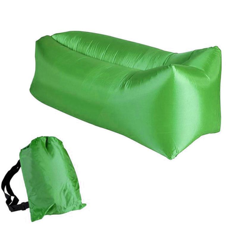 Łóżko na powietrze zielone