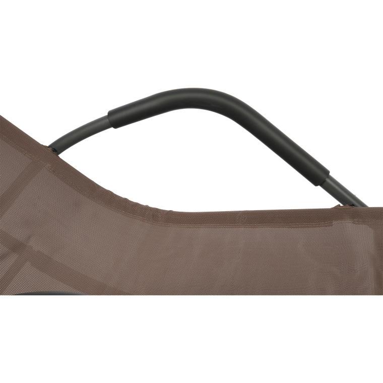 Leżak ogrodowy bujany brązowy