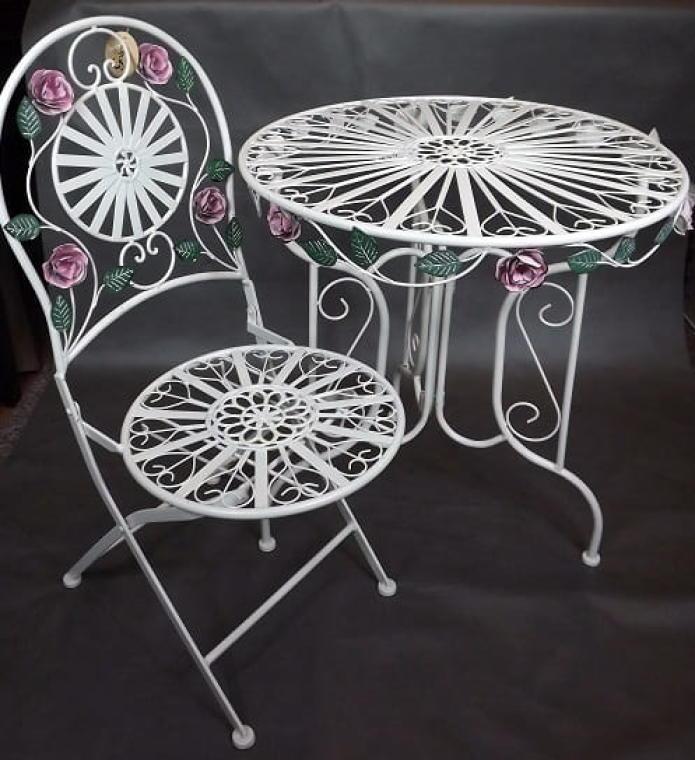 Krzesło z metaloplastyki Prowansja