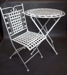 Krzesło kremowe Metaloplastyka Prowansja