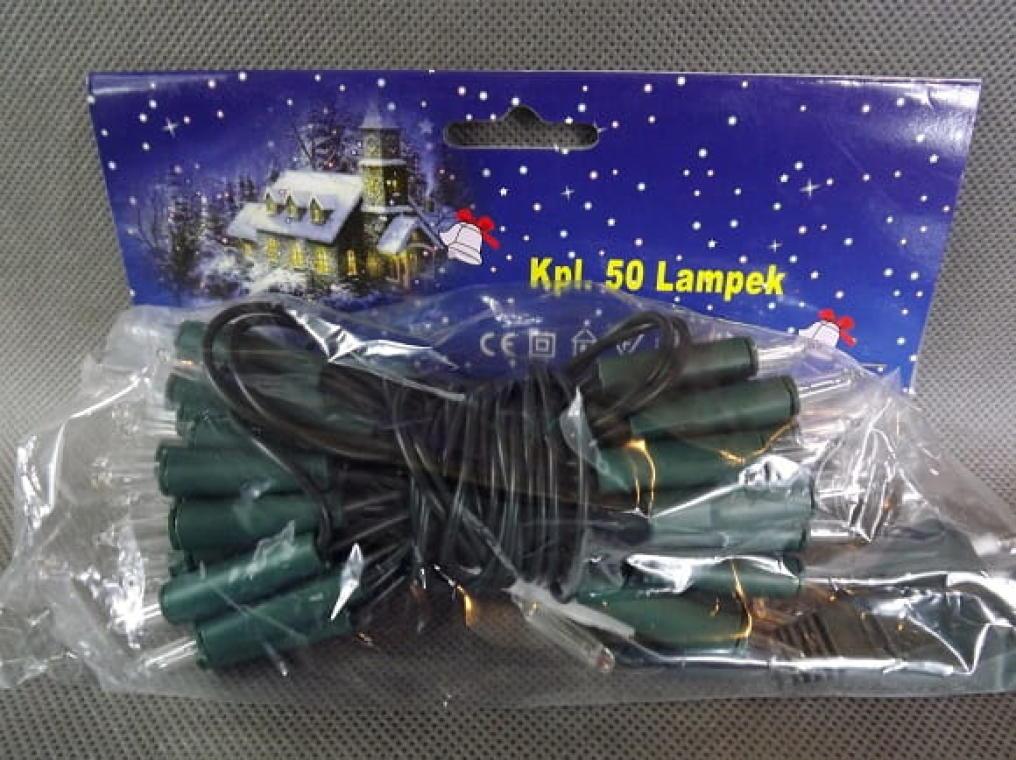 50L Lampki/białe