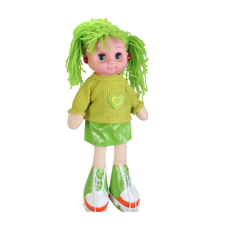 Lalka przytulanka śpiewająca zielona