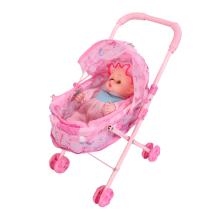 Wózek składany z lalką różowy