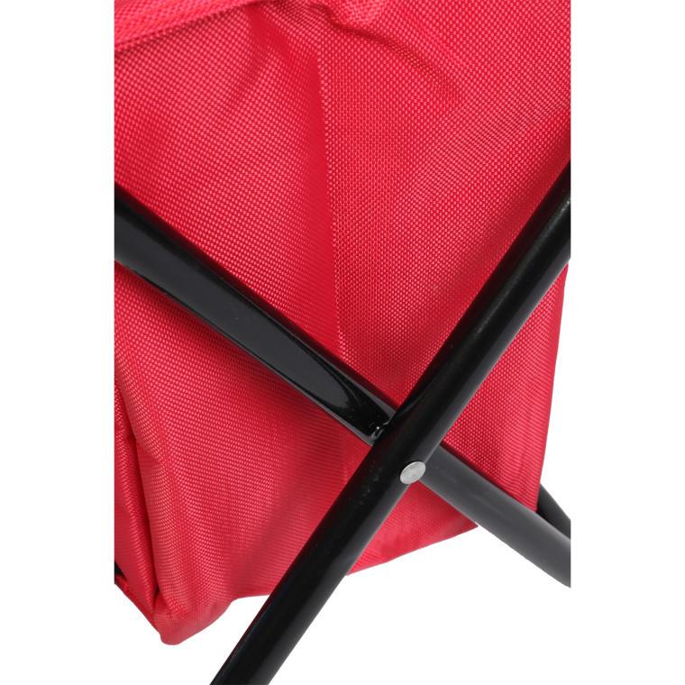 Krzesło turystyczne z torbą izolacyjną czerwone