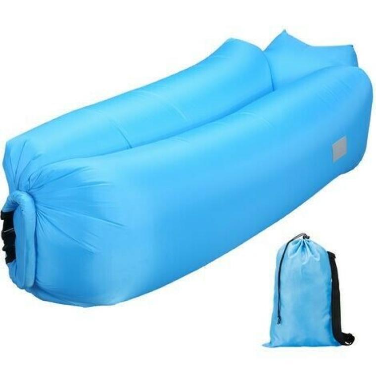 Łóżko na powietrze niebieskie