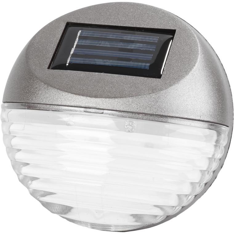 Lampa solarna schodowa srebrna