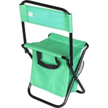 Krzesło turystyczne z oparciem z torbą izolacyjną zielone