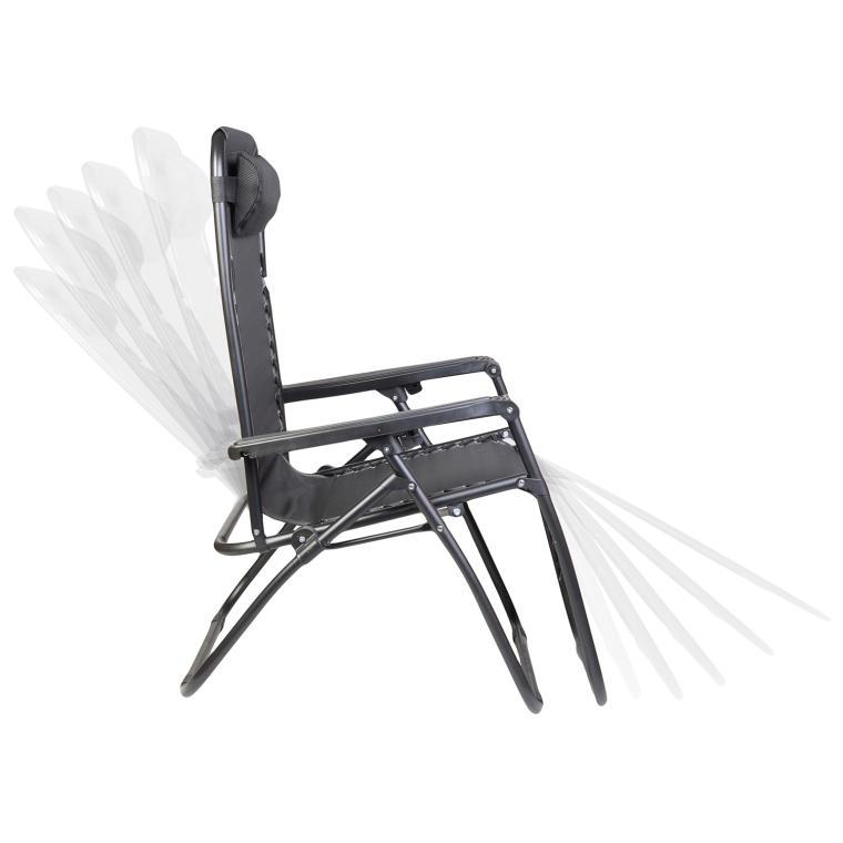 Fotel ogrodowy BS69 czarny