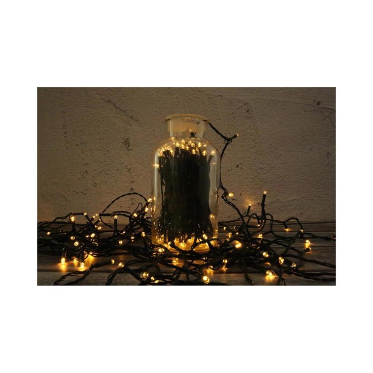 Sznur lampek choinkowych 140LED zewnętrzne ciepły biały