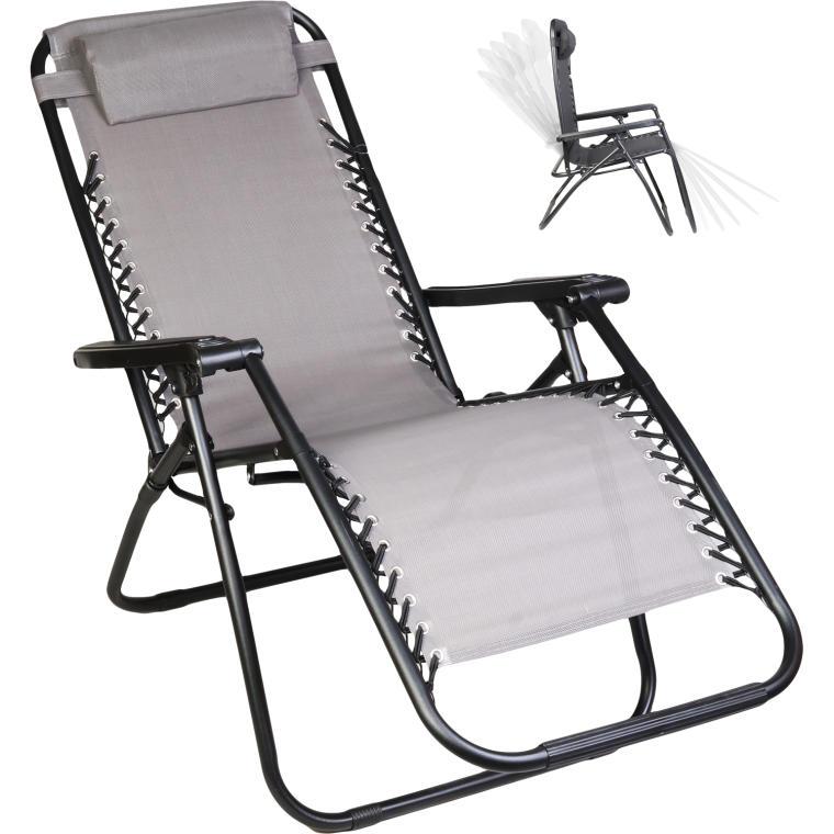 Fotel ogrodowy BS69 szary