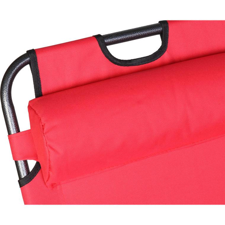 Leżak ogrodowy BS065 czerwony