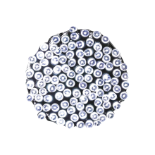 Sznur lampek choinkowych 100LED wewnętrzne zimny biały z dod. gniazdem