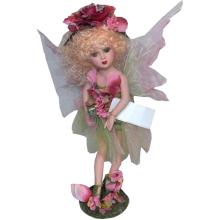 Lalka elf seledynowo różowa