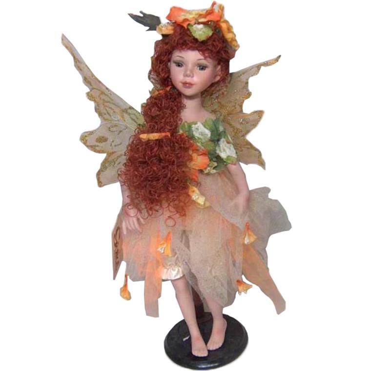 Lalka elf zielono-ruda stojąca 45 cm