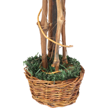 Sztuczne drzewko okrągłe w koszyczku