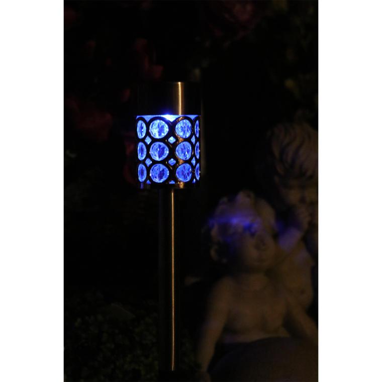 Srebrna lampa solarna SS6101