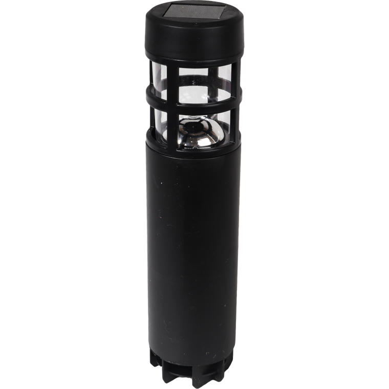 Nowoczesna czarna lampa solarna