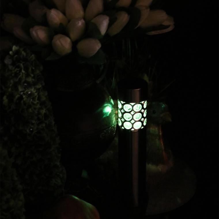 Srebrna lampa solarna SS6102