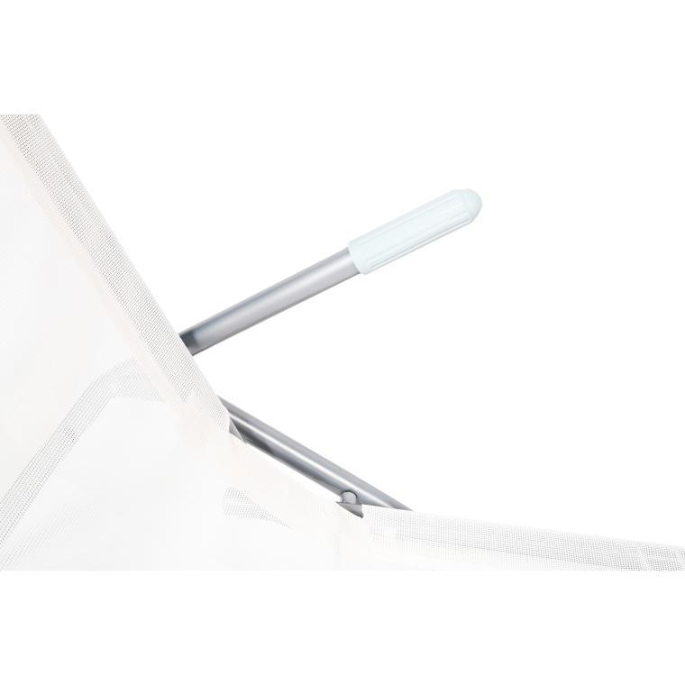 Leżak ogrodowy biały