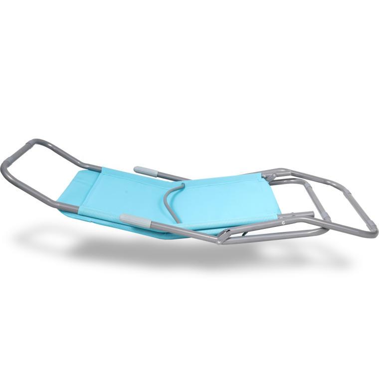 Leżak ogrodowy błękitny