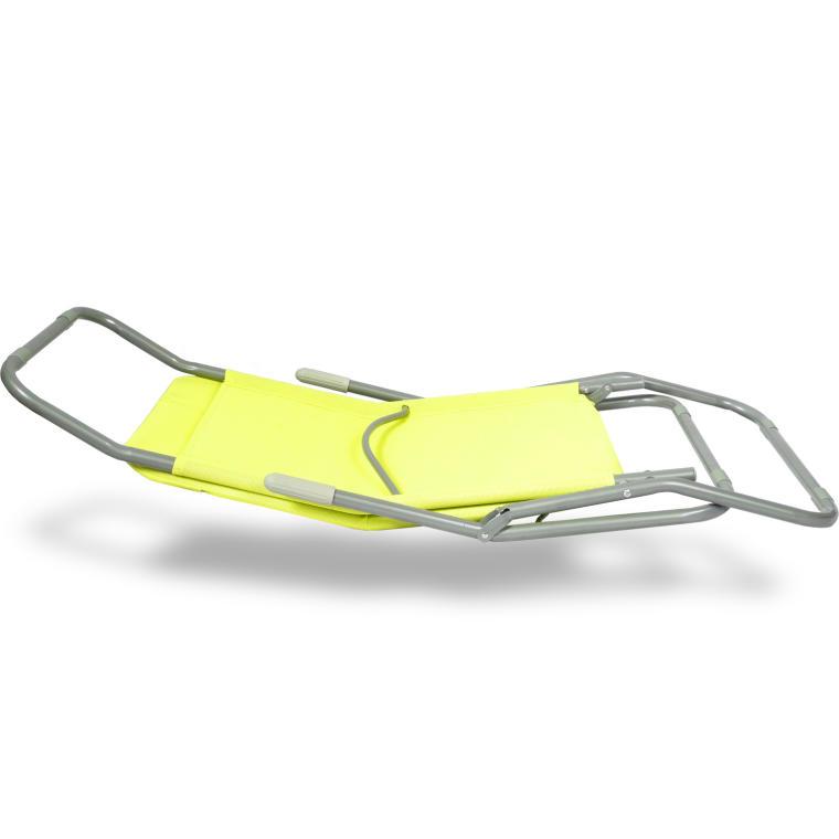 Leżak ogrodowy limonkowy 2