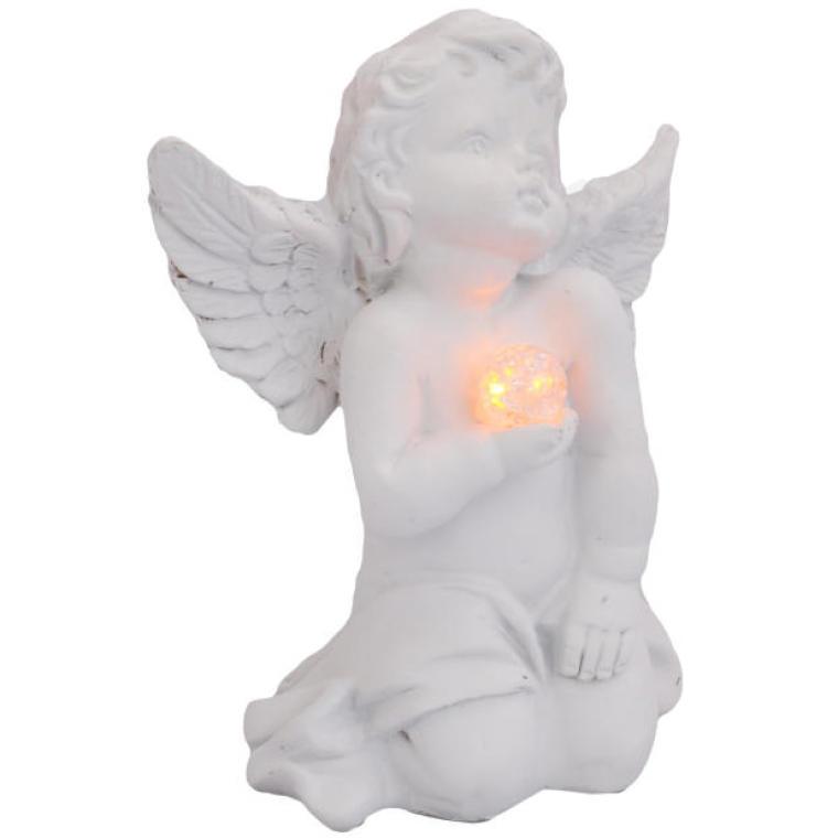 Aniołek klęczący led 12 cm